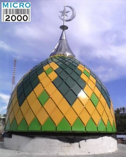 Kubah Masjid Agung Bangai Kec .Pagimana