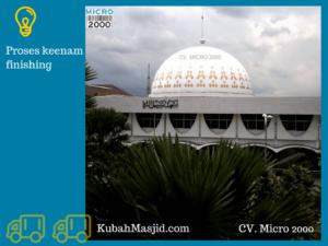 Panel enamel ini memberikan data tarik bangunan masjid