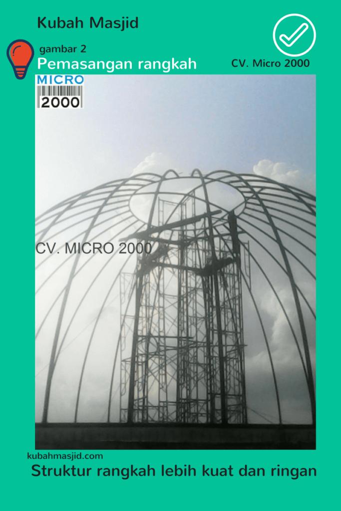 Pemasangan Kubah Enamel oleh CV. Micro 2000