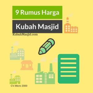 9 Rumus cara menghitung harga Kubah Masjid Enamel, Model, dan Kontraktor Kubah Masjid yang murah