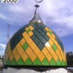 Kubah Masjid Agung Bangai Kec. Pagimana salah satu proyek yang dikerjakan oleh CV. MICRO 2000.