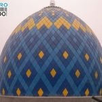 Kubah anak Masjid Raya Sekayu yang mempunyai 3 motif yaitu, kuning, biru tua dan biru muda