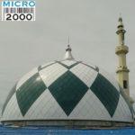 Kubah induk Masjid Raya Poso - Sulawesi Tengah yang telah dikerjakan oleh CV.MICRO 2000