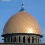 Kubah induk dari masjid tersebut yang dikerjakan oleh CV. MICRO 2000