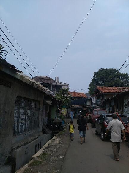 Lokasi pembangunan Kubah Masjid Al Falah Tanah Abang Jakarta Pusat