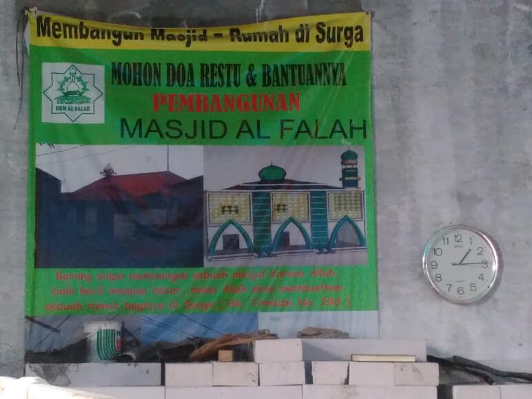 Baliho Panitia Pembangunan Masjid