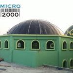 Proses pemasangan kuda-kuda panel pada Masjid Birrul Walidayin Jl. Raya Tarumajaya , Setia Mulya, Kab. Bekasi Barat