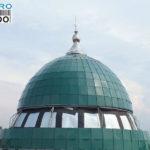 Proses pemasangan panel pada Masjid Baitul Maqdis Bekasi.CV. MICRO 2000