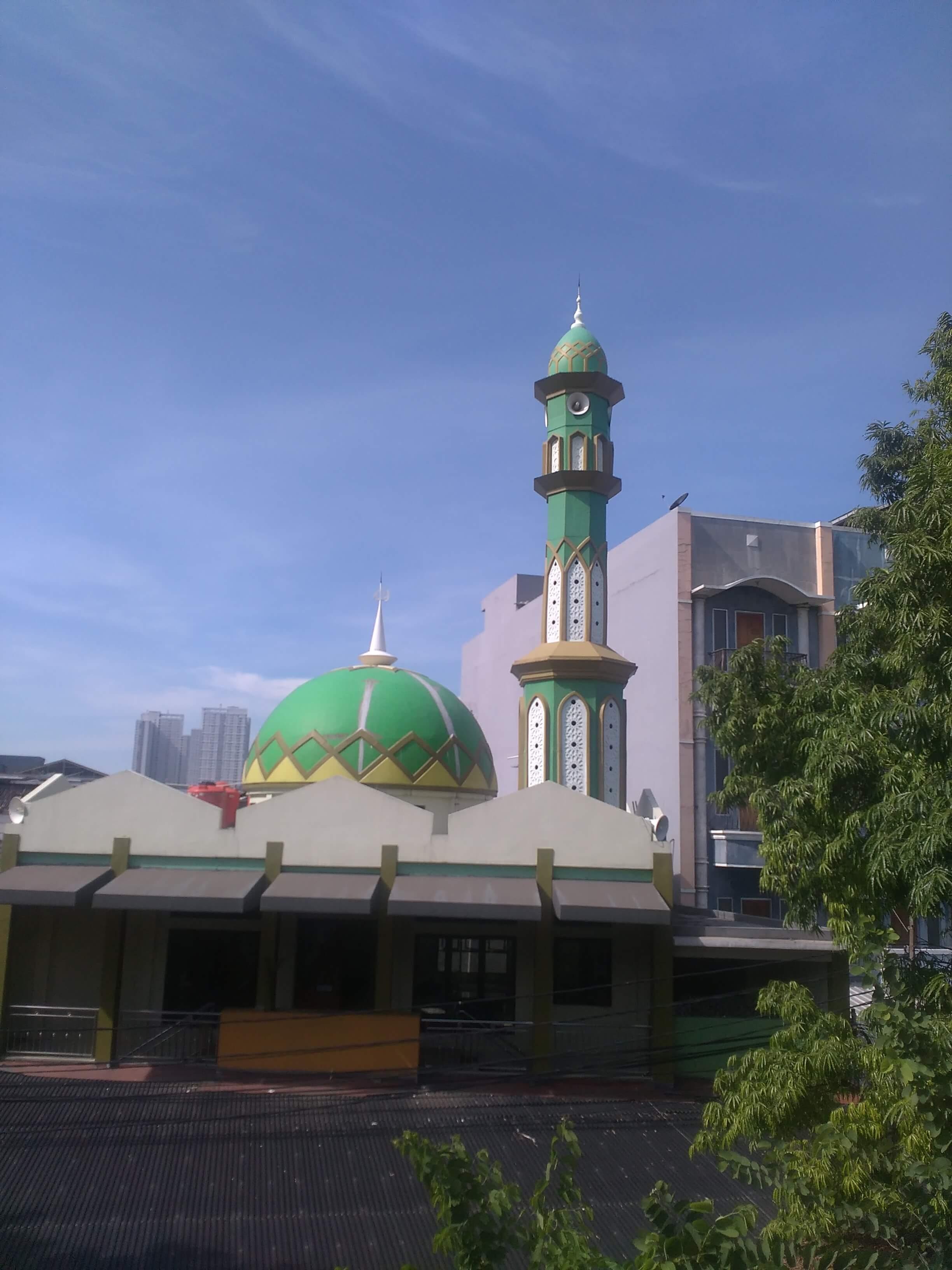 Kubah Masjid dari Beton bisa di Cover dengan Kubah Masjid Enamel