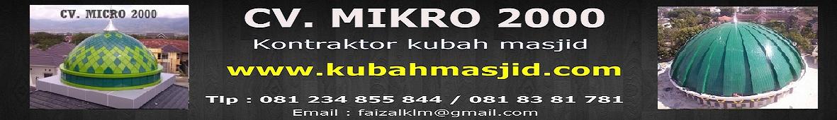Kontraktor Kubah Masjid | Jual Atap Kubah Panel Ornamen