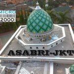 kubah induk masjid ASABRI yang terletak di Jl. Mayjend Sutoyo no 11, Jaktim