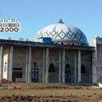 kubah Masjid Ar-Rasyidin yang dikerjakan oleh para pekerja profesional CV. Micro 2000, Jl. jakarta Loa Bakung Samarinda