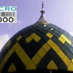 kubah masjid As-Syafi'iyah Gerbang Lor No. 82 Surabaya yang mempunyai dua motif yaitu, hijau tua dan kuning