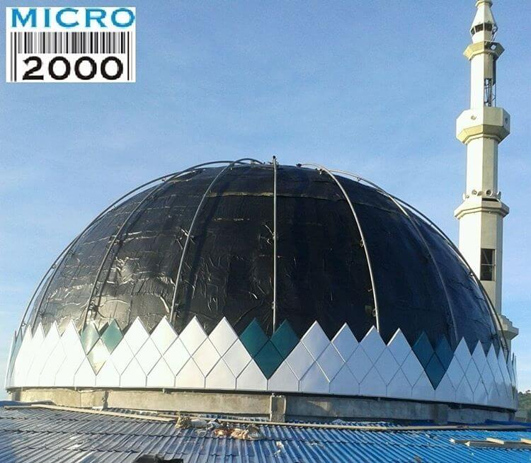 pemasangan panel pada kuabah Masjid Raya POSO - Sulawesi
