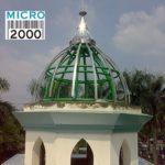 rangka kubah anak Masjid ASABRI yang terletak di Jl. Mayjend Sutuyo no 11 Jakarta Timur